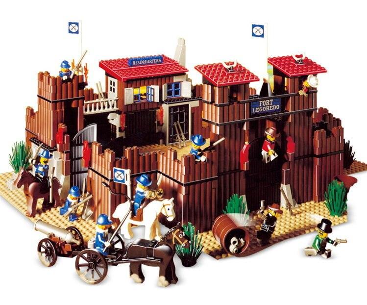 Lepin 33001 Sauvage Ouest Fort Véritable Série Bâtiment Éducatifs Blocs de Construction Briques Jouets Modèle Cadeau Compatible Avec lego 6769