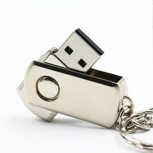 Image 1 - De Metal de moda pendrive USB flash drive 4GB 4GB 8GB 16GB 32GB 64GB pen drive de plata pistola u disco USB 2,0 tarjeta de memoria Flash de negocios