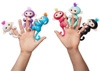 6 Color Fingerlings Interactive Baby Monkeys Smart Colorful Fingers Llings Smart Induction Toys Best Gifts For