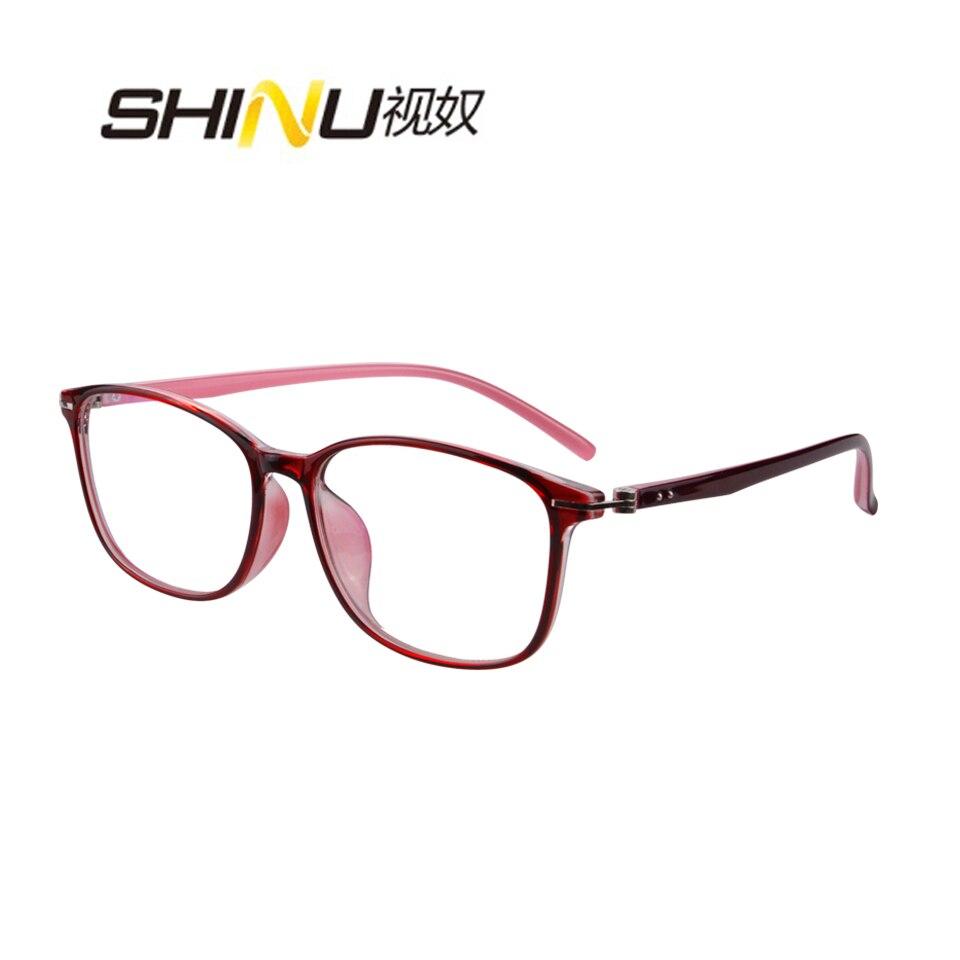 Anti Blue Myopia Eyeglasses Progressive Prescription Glasses UV400 Antifatigue Photochromic Transition Optical Glasses Eyewear