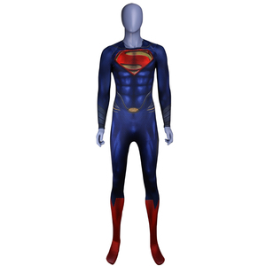 Image 4 - Men Boys Superman Man of Steel Cosplay Costumes Tights Jumpsuits Superhero Event Halloween Superman Costumes Zentai Suit Cloak