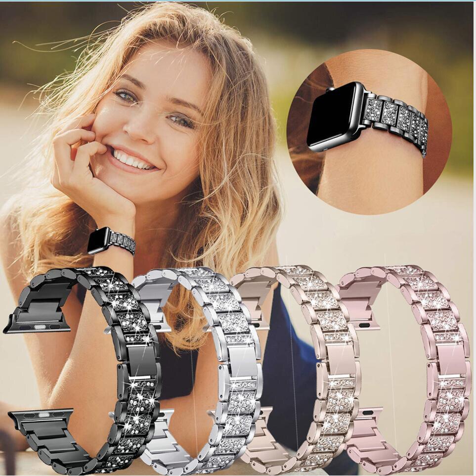 Pulseira de aço inoxidável para apple watch 5 4 banda 42mm 38mm iwatch 4 3 banda 44mm 40mm pulseira de relógio de metal acessórios de relógio