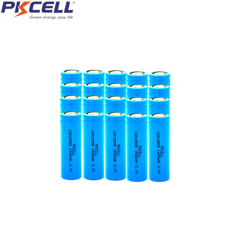 20 pièces ICR18500 3.7V Liion batterie Rechargeable ICR 18500 Li-ion Batteria 1400mAh Lithium Li-ion ICR Batteries image