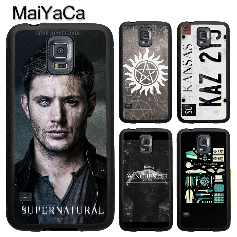 MaiYaCa SUPERNATURAL WINCHESTER SAM DEAN Soft TPU Phone Case Cover Coque For Samsung S4 S5 S6 S7 edge S8 S9 plus Note 8 5 4 Capa