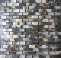 Mother Of Pearl Black Tiles Wholesale Natural Color Shell Wall Mosaic Tiles Brick Tile For Interior
