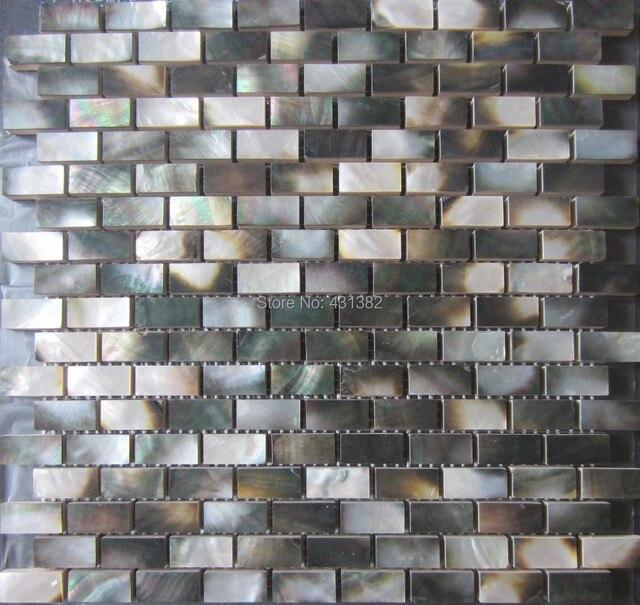 Perlmutt Schwarzen Fliesen Großhandel Natürliche Farbe Shell Mosaik Fliesen  Wand Ziegel Fliesen Für Innendekoration Freies