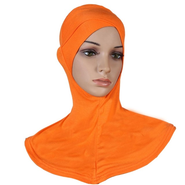 Free Shipping Women Muslim Headwear Cotton Cross Scarf Hijabs Underscarf  Instant Hijab 20 Colors Mixed Wholesale 0a6acbb9420