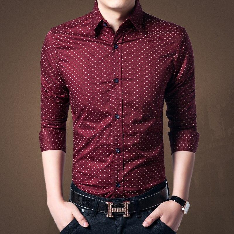 Polka Dot Button Up Shirt Mens