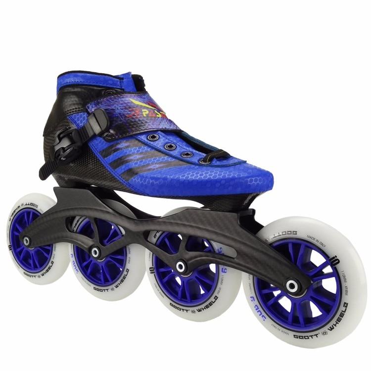 Pasendi fibre de carbone professionnel chaussures de patinage de vitesse femmes/hommes patins à roues alignées chaussures de course adulte enfant chaussures de patinage patins