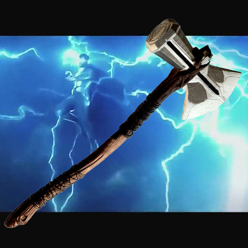 PU Toy Cosplay Weapons 1:1 Thor Axe Hammer 73cm Cosplay Weapons Movie Role Playing Thor Thunder Hammer Axe Stormbreaker Figure M 1