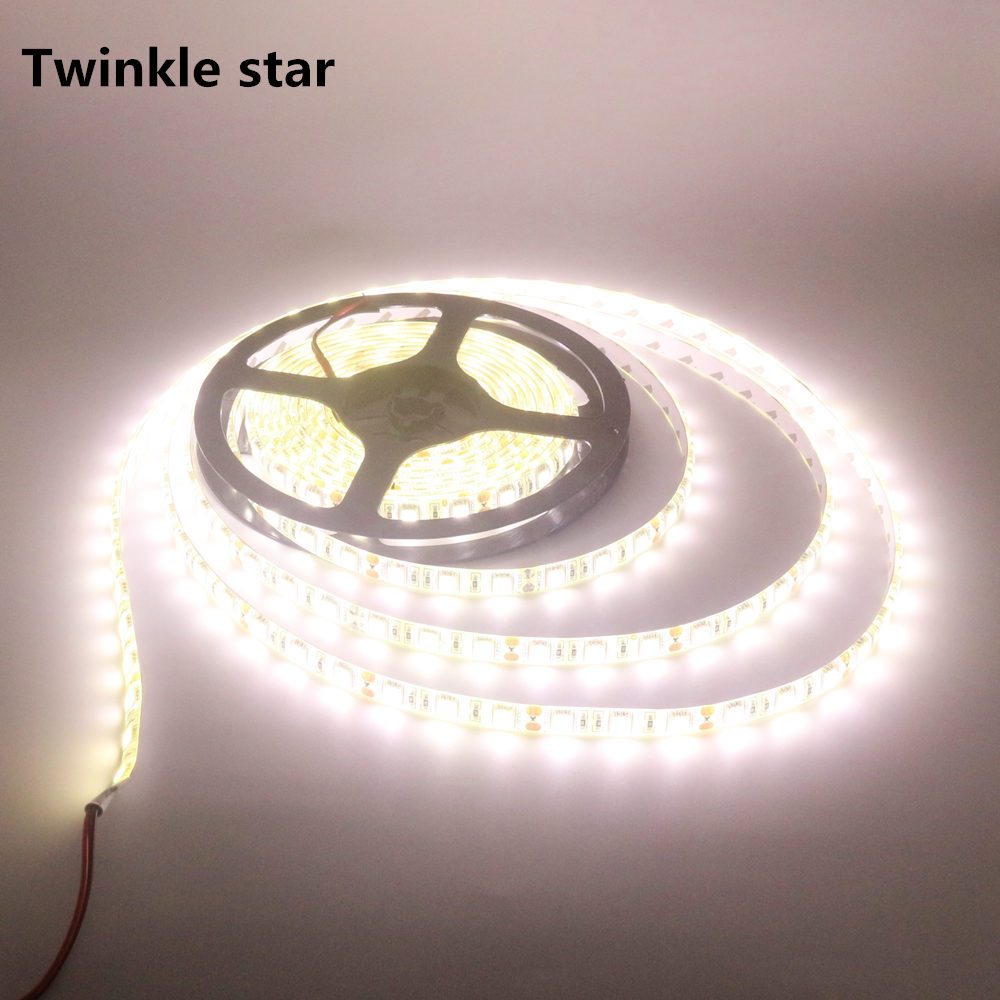 led strip light smd 5050 4000k nature white waterproof ip65 and non waterproof ip20 dc 12v 300led 5m led flexible tape lamp