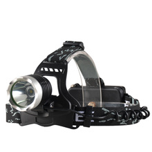 Rechargeable LED headlights 18650 lithium battery powered headlamp outdoor camping adventure night work portable lighting light