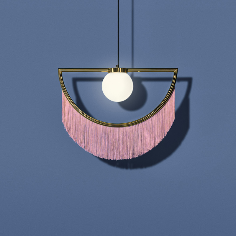 Postmodern LED living room pendant lights bedroom hanging lighting Tibet tassel deco fixtures Cafe restaurant suspended