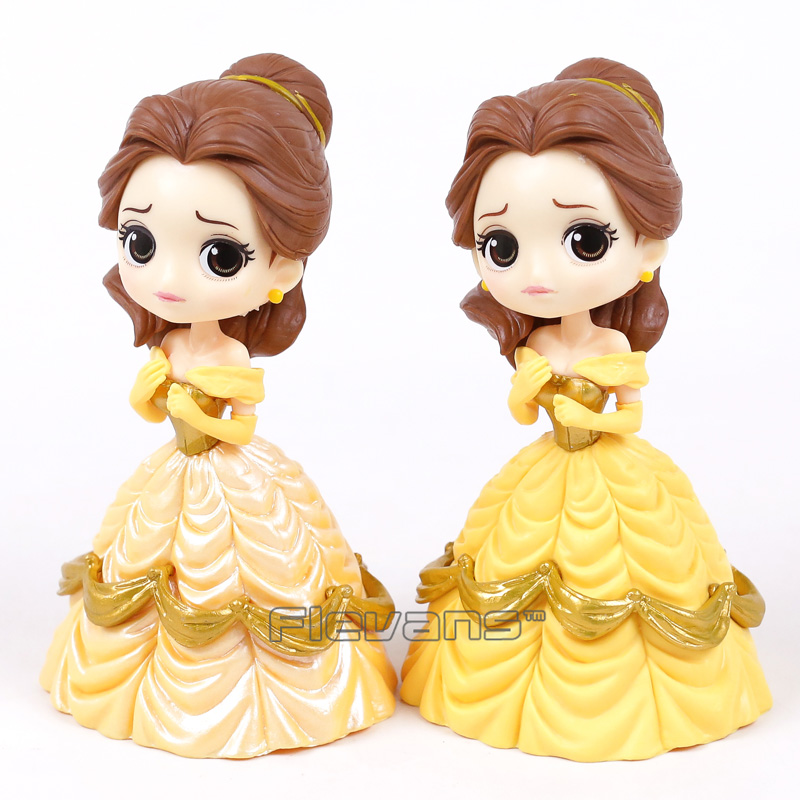 Q posket Beauty and the Beast Belle PVC Figure Model Toy Princess Doll Gift for Girls 13cm 5pcs lots 2017 film extraordinary corps mecha five beast hand collection model toy