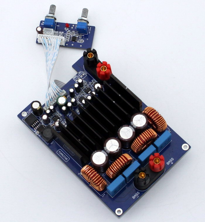 TAS5630 bass 600W 1Channel amplifier board mono class A amplifier with TAS5630+OPA1632DR+TL072 IC High Power AMP board