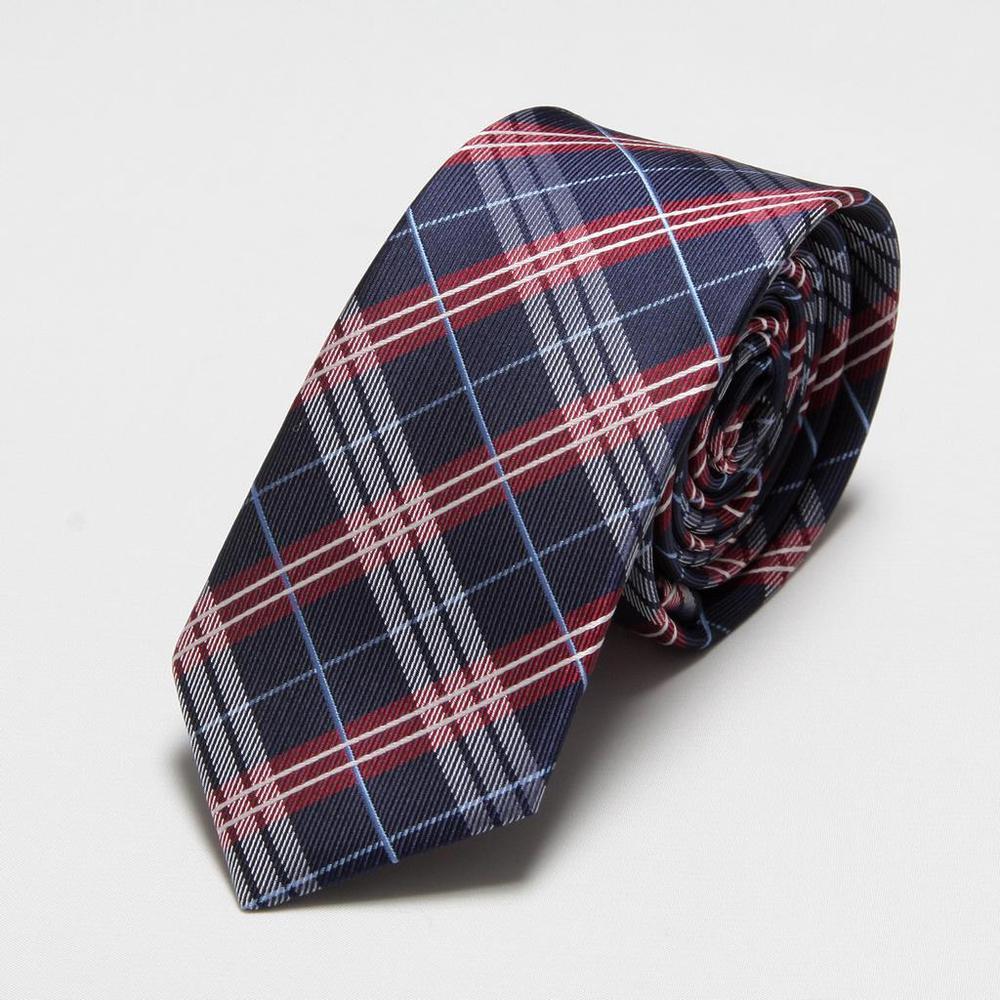 HOOYI 2018 Microfiber men Skinny ties mens tie plaid neckties