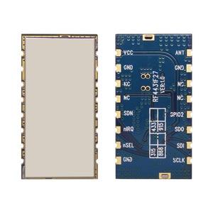 Image 2 - 2 cái/lốc hiệu suất cao 3 km 868 MHz 500 mW nhúng Wireless Transmitter Receiver RF Module FSK/GFSK Mô đun RF4432F27