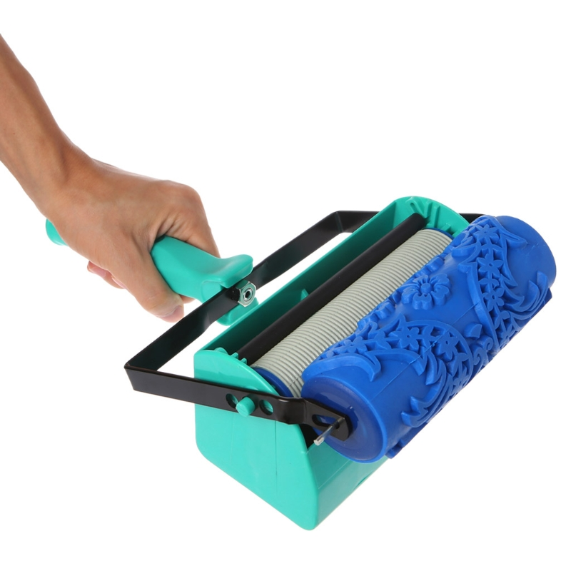 Double Color Wall Decoration Paint Painting Machine For 5 Inch Roller Brush Tool decorative paint machine 10 10 inch rubber roller 4 color patterned paint liquid wallpaper decoration machine include roller