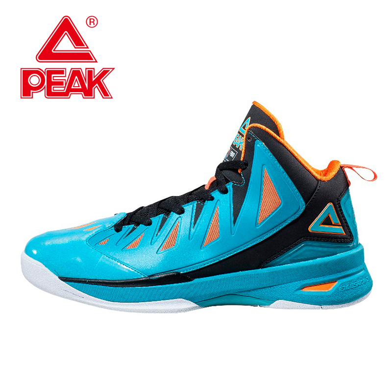 PEAK FIBA Speed Eagle II Men Basketball Shoes Basketball  Men Sneakers Authent Cushion-3 REVOLVE Tech Athletic Ankle Boots peak sport lightning ii men authent basketball shoes competitions athletic boots foothold cushion 3 tech sneakers eur 40 50