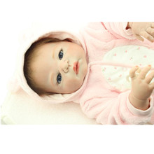 55CM Silicone Reborn Babies kids Playmate Realistic Doll Gift For Girls Baby Alive Soft Toys For Bouquets Juguetes Kids Gift
