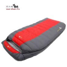 Xueshanfu Double Person 5500G/6000G Duck Down Filling Professional Super Warm Waterproof Comfortable Sleeping Bag Lazy Bag