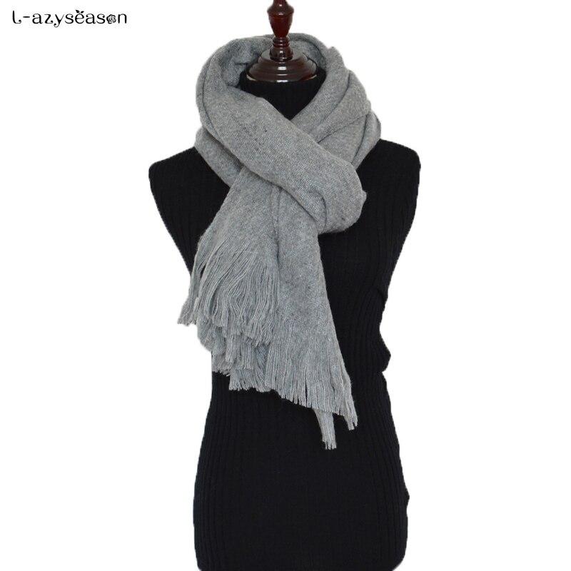 Women's Winter Blanket   Scarf   Women Solid Pashmina Designer Unisex Cashmere Foulard Thick Basic Shawls Men's   Scarves     wraps