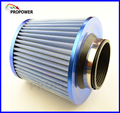 New Blue Cold Air Intake Filter / Car Vehicle High Flow Air Filter / Adapter Neck:76mm Universal For Honda VW BMW
