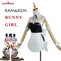 UWOWO Ram Rem Bunny Girl Cosplay Re Zero Re Life In A Different World From Zero