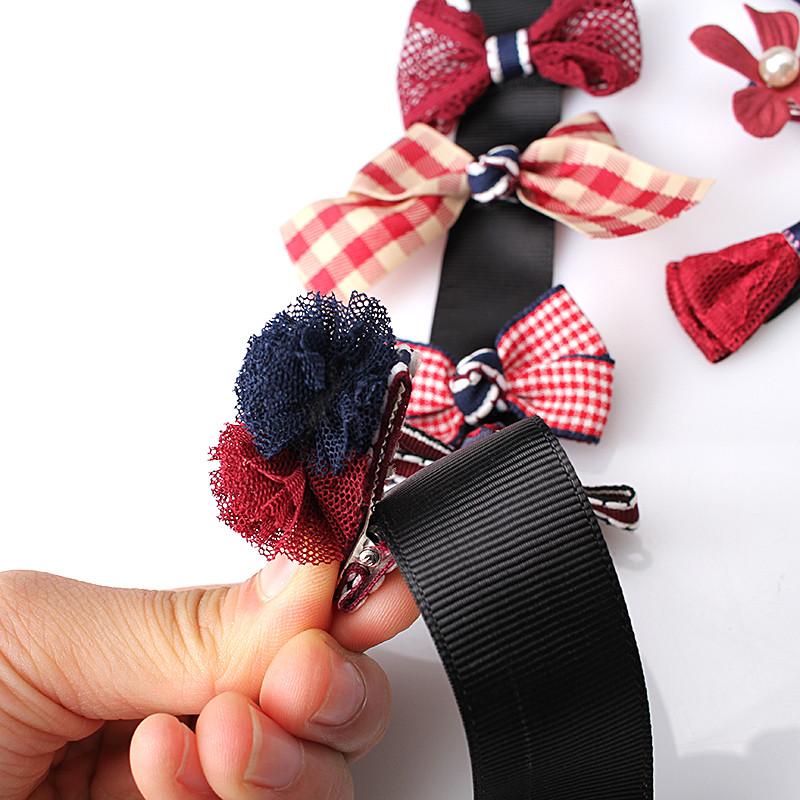HTB1ySy0OpXXXXaxapXXq6xXFXXXf Fashionable Kids 8-Pieces Multi-Style Ribbon Bow Flower Hair Barrette Set - 5 Styles
