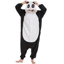 b7cb80b6e349 Lovely Kigurumi Black Soft Adult Panda Onesies Animal Pajamas Unisex Men  Pyjamas Party Funny Polar Fleece