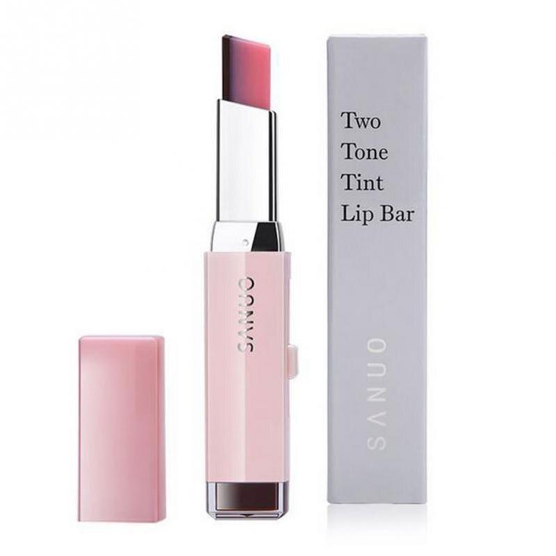 Korean Style Gradient Color Lipstick Moisturize Two Color Tint Lip Gloss long Lasting Waterproof Lip Balm Women Makeup Beauty 8