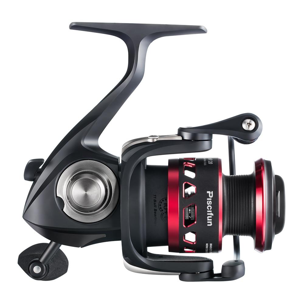 Piscifun honneur pêche bobine 10 KG Max glisser scellé en Fiber de carbone glisser 10 + 1 roulements noir + rouge lumière rotation moulinets - 3
