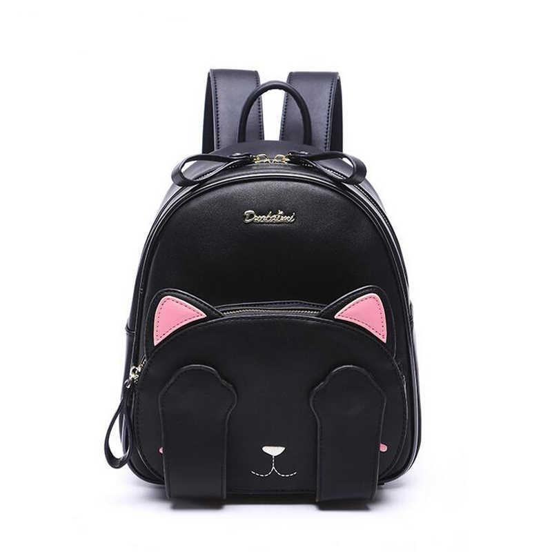 2018 новый рюкзак для кошек, черный школьный рюкзак в консервативном стиле, забавные качественные модные женские сумки на плечо из искусственной кожи, рюкзак для путешествий