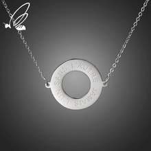 SSteel Fashion Stainless Steel Circular Hollowing Necklaces For Women Charm Silver Rose Gold Color Chokers Necklace Jewelry