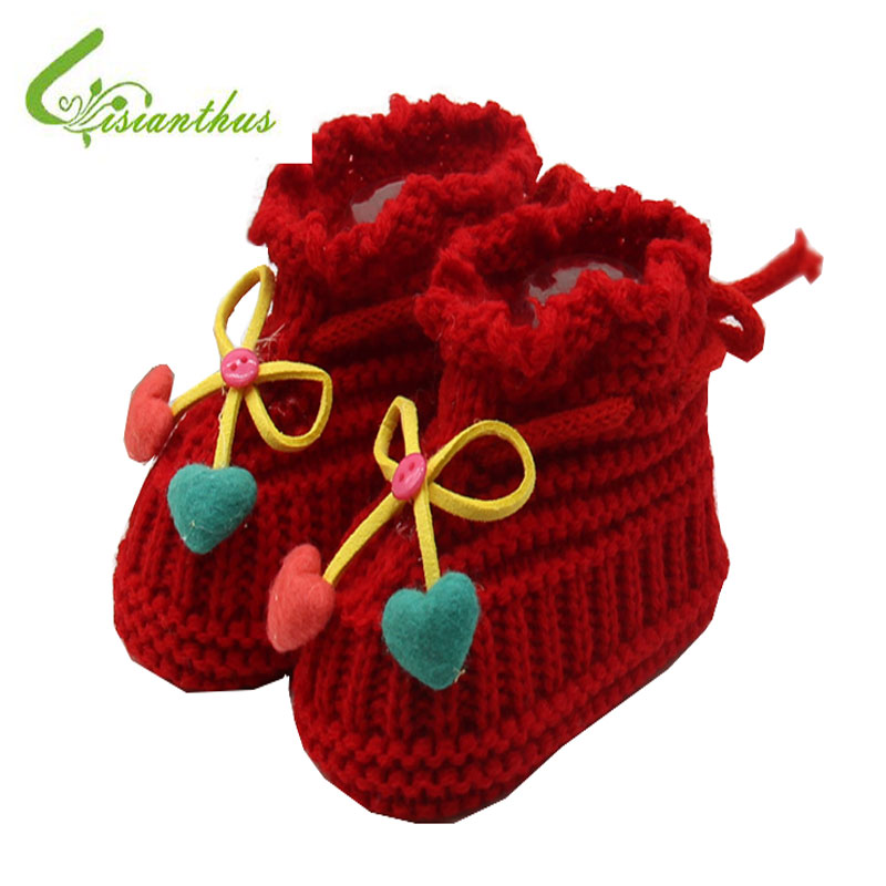 Newborn Baby Socks First Walkers Baby Slippers Boot Infant Crochet Knit Elastic Baby Girl Shoes Pure Hand Woven Wool Soft Shoes
