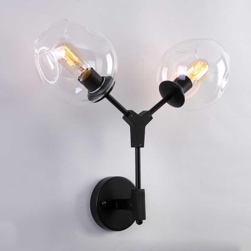 LukLoy настенный светильник современные Волшебные фасоли двойной головкой филиал бра Globes DNA настенные бра освещение