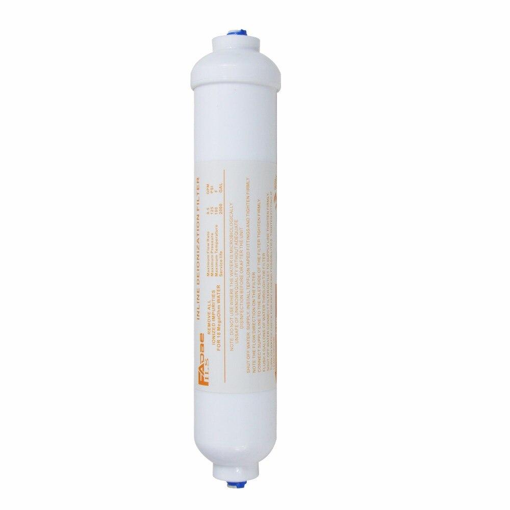 Filtro de água de desionização inline ro purificador substituição di mistura cama resina filtros 10