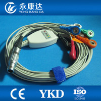 Landcom Holter 7 lead ECG leadwire set,3CH,45cm,AHA,FCG.