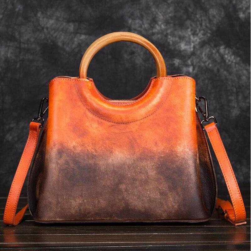 Sacs à Main de luxe femmes conception sacs à Main en cuir véritable sac à Main Vintage femmes épaule bandoulière Messenger sac fourre-tout décontracté Sactchels