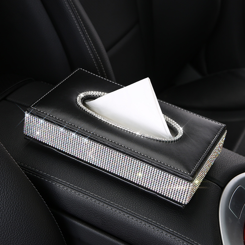 Swan-Crystal-Rhinestone-Car-Tissue-Case-Box-PU-Leather-Auto-Armrest-Box-Block-Type-Paper-Towel (1)