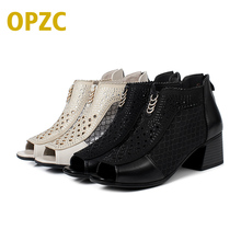2017 Summer Women's Genuine Leather High-heeled Boots, Wool Lined Boots,  Fashion High Quality Motorcycle Boots, Free Shipping
