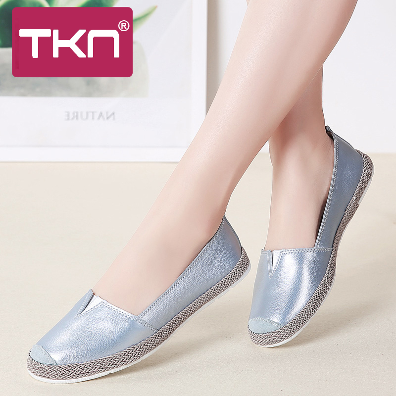 TKN 2019 Spring Women Flats Shoes Genuine Leather Slip on Loafers Shoes Woman Ballerina Ballet Flats Grandmother Loafers 952TKN 2019 Spring Women Flats Shoes Genuine Leather Slip on Loafers Shoes Woman Ballerina Ballet Flats Grandmother Loafers 952