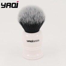 Yaqi 30mm גדול גודל קשר לבן שרף ידית סינטטי שיער טוקסידו קשר גברים גילוח מברשת