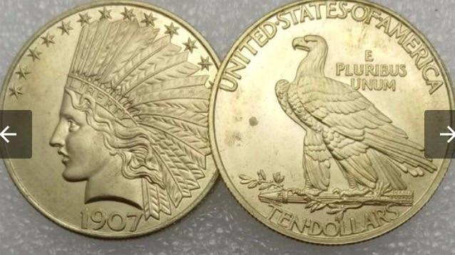 1907 ten dollar coin