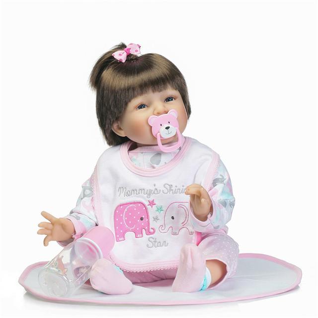 55 cm lovely baby reborn doll toy o melhor presente de aniversário para a criança, bebês silicone renascer bebe menina renascer bonecas brinquedos