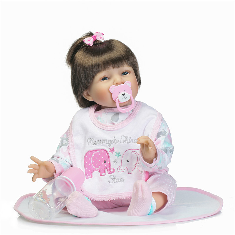 55cm lovely baby reborn doll toy best birthday gift for child, silicone reborn babies bebe girl reborn bonecas brinquedos