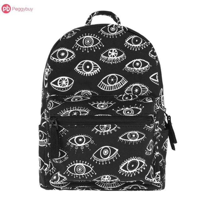 c0f5792ab8bb Fashion Design Icon Chic Kids Women 3D Eyes Printed Mini Backpacks Girls  Casual Shoulder Schoolbags For