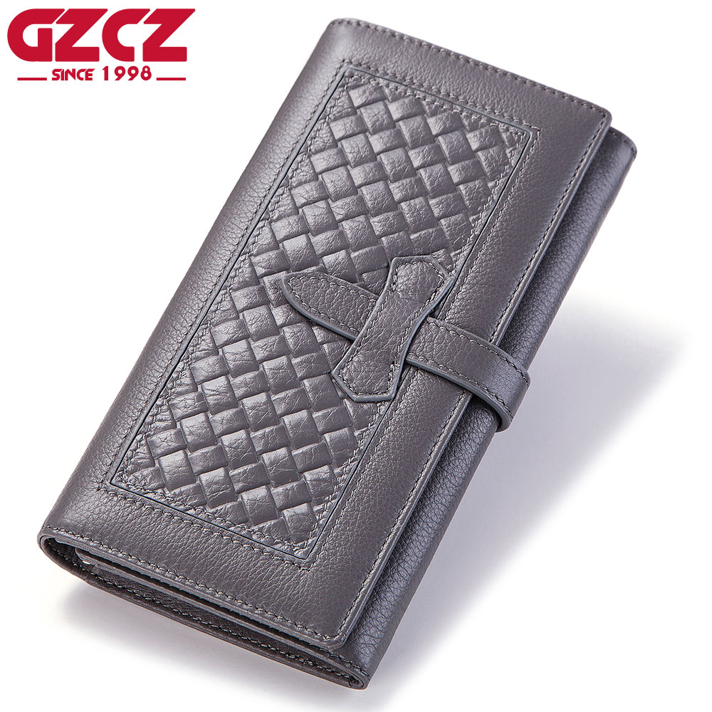 172535182caf US $22.91 40% OFF|GZCZ New Wallet Brand Coin Purse Genuine Leather Women  Wallets Purse Walet Female Card Holder Long Lady Clutch Carteira  Feminina-in ...