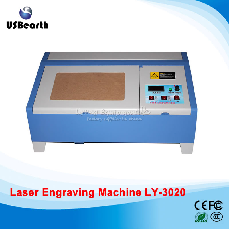 40W 3020 CO2 Digital laser engraving cutting machine for PCB, crystal, wood, organic plastic  manufacturer 3020 40w mini co2 desktop laser engraving cutting machine