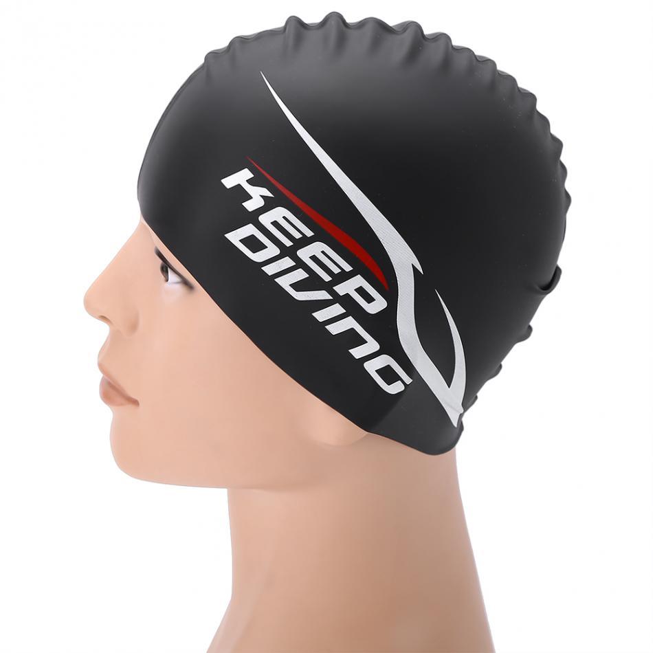 Adult Kid Waterproof Silicone Women Swimming Cap For Long Hair Ear Protect Swimwear Bathing Swim Hat Water Sports Pool Accessory